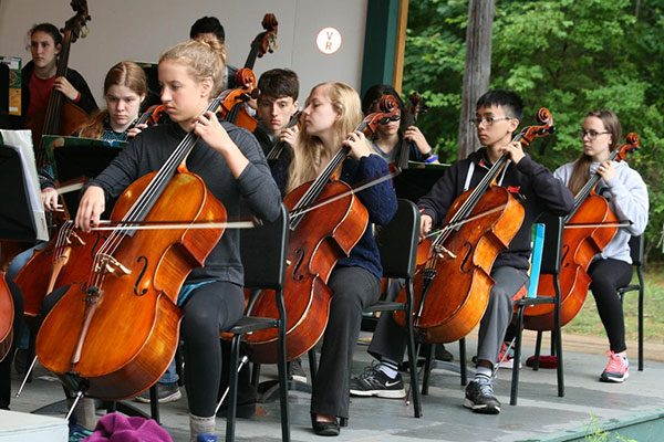 Luzerne Music Center Students playing cellos