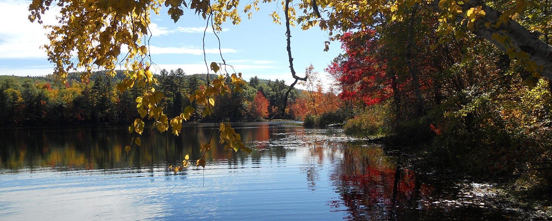 lake luzerne new york in autumn